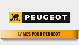 Lames pour Peugeot